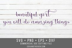 Beautiful Girl Wood Sign Stencil SVG Product Image 1