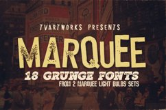 Marquee - 18 Grunge Fonts Product Image 1