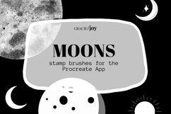 Moons Procreate Stamp Brush Product Image 1