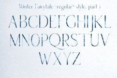 Winter Fairytale-SVG monogram and regular font in two styles Product Image 6