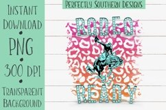 Rodeo Ready Pink and Orange - Sublimation Design Product Image 1