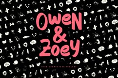 Owen Zoey Kids Characters Font Duo Product Image 1