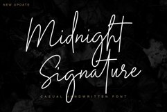 Midnight Signature   Casual Handwritten Font Product Image 1