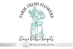 Farm Fresh Flowers SVG | Farmhouse Spring Sign Design Product Image 3