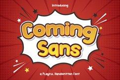 Coming Sans - Playful Handwritten Font Product Image 1