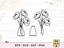 Wildflowers in vases bundle SVG set Product Image 3