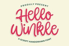 Hello Winkle - Handlettering Font Product Image 1