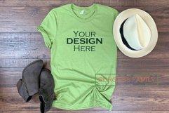 Mockup | Light Green Bella Canvas Womens |Craft mock up Product Image 1