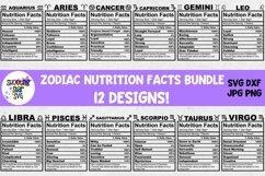 Zodiac Nutrition Facts SVG Bundle Product Image 1