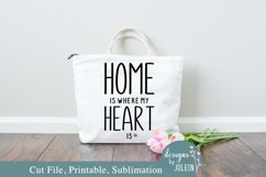 Home is where my heart is SVG, Sublimation, Printable Product Image 1