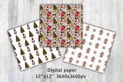Christmas & New year Digital papers JPG PNG Seamless pattern Product Image 2