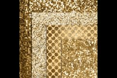 42 Antique Gold Glitter and Sequin Papers Product Image 2