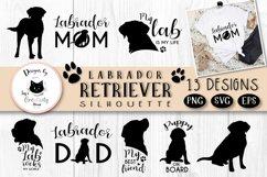 Black Labrador Retriever Dog Silhouette | Dog Mom SVG Files Product Image 1