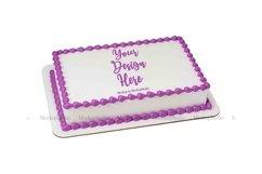 Sheet Cake Mockup Bundle, Edible Cake Print Mock Up Display Product Image 4