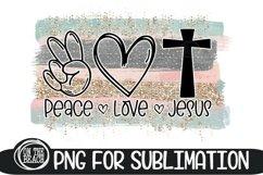 PEACE LOVE JESUS - Pastel - Glitter - 300 DPI Sublimation Product Image 1