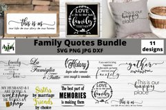 Family quotes svg bundle, Family sayings, Farmhouse signs Product Image 1