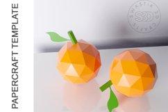 PDF Template of Orange fruit papercraft 3d Papercraft Product Image 4