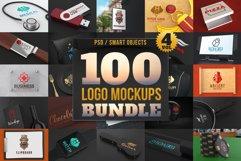 100 Logo Mockups Bundle Vol.4 Product Image 1