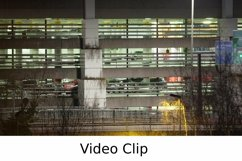 Video: Timelapse of traffic near parking deck at night Product Image 1