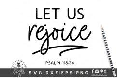 Let Us Rejoice SVG | Christian SVG | Bible Verse SVG Product Image 1