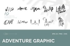Adventure Graphic. 10 illustration in doodle style Product Image 1