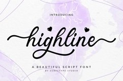 Highline / Beautiful Script Font Product Image 1