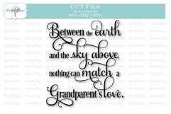 Grandparent's Love Quote - SVG DXF PNG Product Image 1
