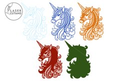 Multilayer Cut File UNICORN for Cricut or Wood Laser Cutting Product Image 2