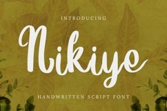 Web Font Nikiye Font Product Image 1