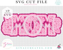 3D MOM Layered SVG Cut File Product Image 2