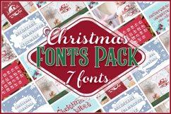 Christmas Fonts Bundle   Christmas Monogram Font Product Image 1