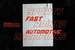Speed Rush - A Car Racing Display Font Product Image 6
