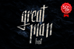 Great Man font Product Image 1