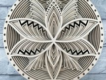 Layered Mandala SVG, Cut file Mandala, Flower mandala, Lotus Product Image 2