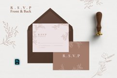 Minimal Sketch Floral Invitation Suite Product Image 5