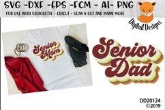 Retro Senior Mom/Dad SVG Bubble Letters Product Image 1