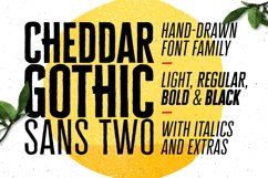 Cheddar Gothic Sans Two Fonts Product Image 1