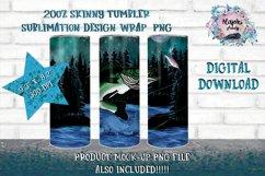 Outdoors  Fishing 20oz Sublimation Design  Tumbler Wrap Product Image 1