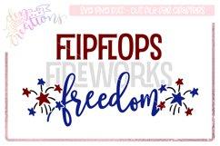 Flip-flops Fireworks Freedom - 4th of July Design Product Image 1