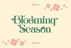 Blooming Season Floral Font Product Image 1