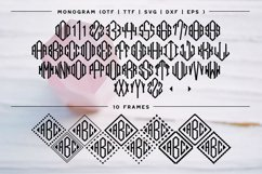 BIG Monogram Cut File & Font Bundle | The Ultimate Bundle! Product Image 5