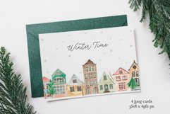 Winter Town. Watercolor Collection. Merry Christmas Product Image 5