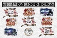 Motivational Quote Sublimation Bundle | 24 Unique Designs Product Image 1