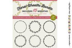 FLORAL MEGA BUNDLE 30 wreath, laurel, heart leaf frames SVG Product Image 2