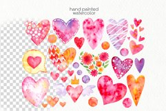 Watercolor Hearts Clipart - PNG Files Product Image 2