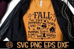 Fall Svg - Pumpkin Spice - Sweaters - Bonfires- DXF PNG SVG Product Image 1