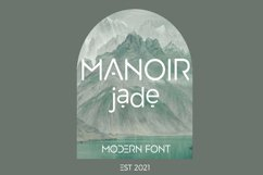 Manoir Jade. Sans Serif Font Product Image 5