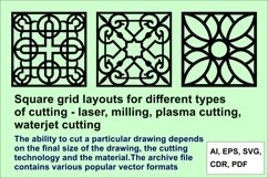 Square lattices layouts for different types of cutting Product Image 1