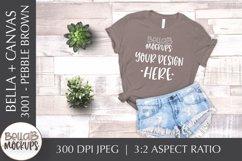 Bella Canvas 3001 Woman's T Shirt Mockup, Pebble Brown Product Image 1