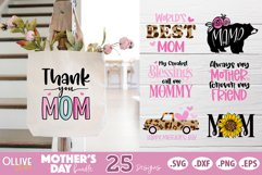Mothers Day SVG Bundle, Mom Mother's Day SVG Product Image 2